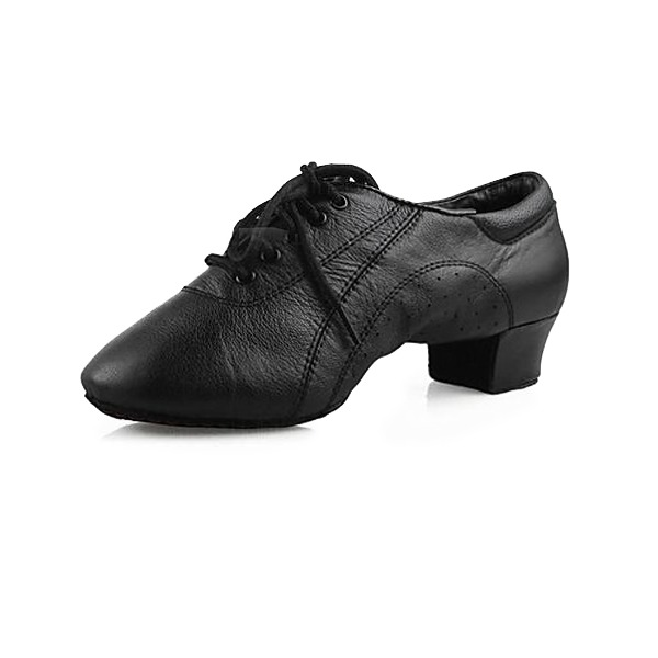 Men's Real Leather Flats Practice Dance Shoes
