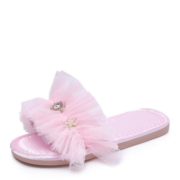 Femmes Mesh Talon plat Chaussures plates À bout ouvert