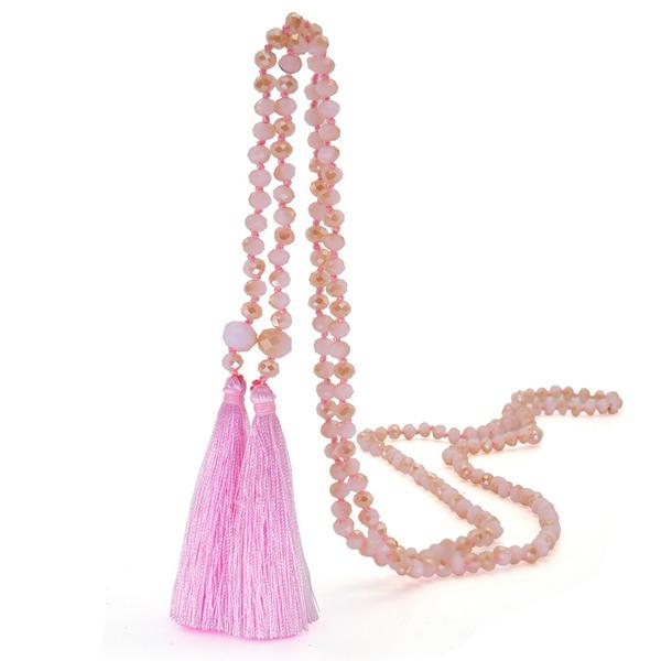 Nydelig Crystal Silke med Dusker Kvinner Fashion Kjede