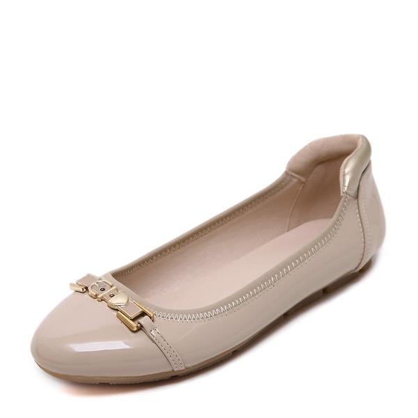 Kadın PU Düz Topuk Daireler Kapalı Toe Ile Diğerleri ayakkabı