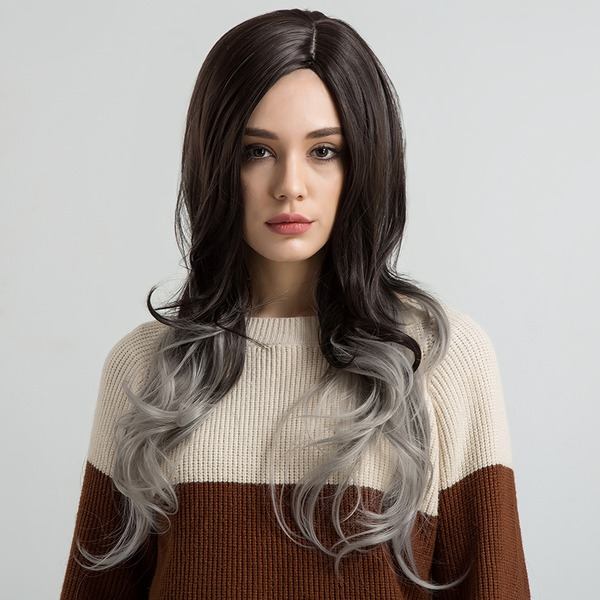 Curly Synthetic Hair Synthetic Wigs 220g