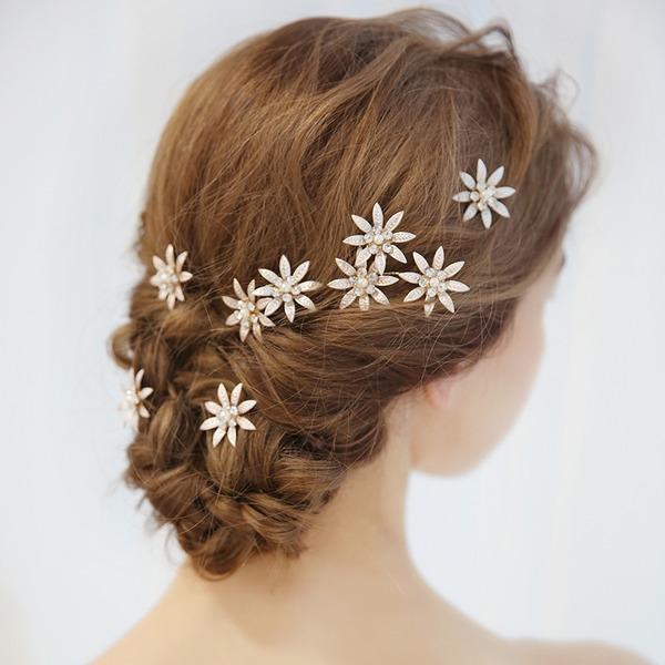 Dames Mooi Legering Haarspelden met Strass (Set van 3)
