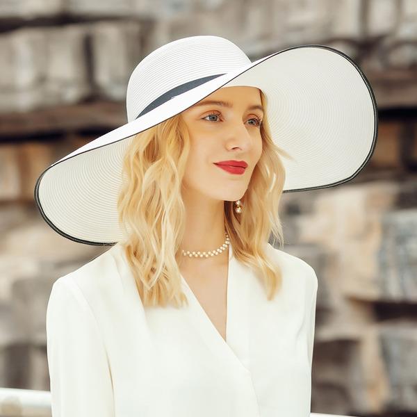 Señoras' Estilo clásico/Simple poliéster/Satén Disquete Sombrero