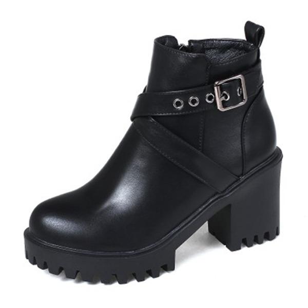 Femmes Similicuir Talon bottier Bottes Bottines chaussures