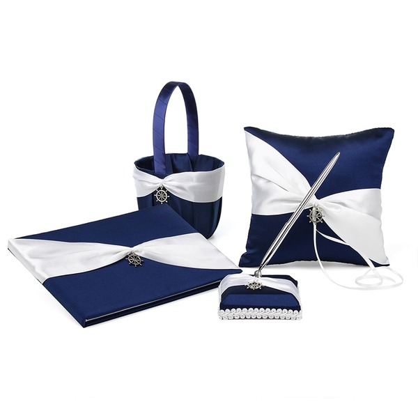 Bow Guestbook/Pen Set/Ring Pillow/flower basket