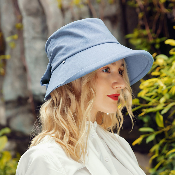 Ladies ' Classic/Charmen Bomuld med Bowknot Bucket Hat