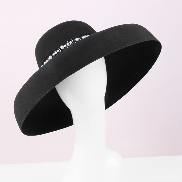 Ladies' Classic/Simple/Pretty Wool With Pearl Kentucky Derby Hats