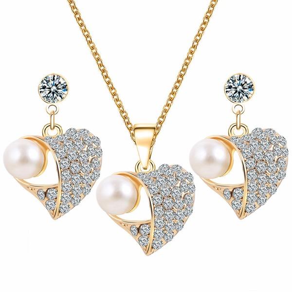 Udsøgt Legering Rhinsten Imiteret Pearl med Imiteret Pearl Ladies ' Smykke Sæt