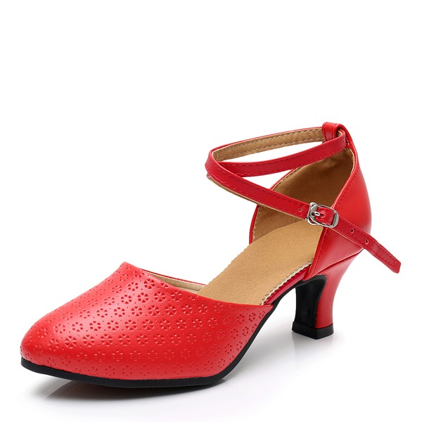 Frauen Microfaser-Leder Heels Latin Tanzschuhe