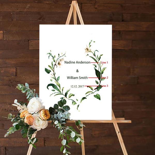 Enkel/Klassisk stil Klassisk stil/Elegant PVC/Limpapper Bröllop Sign