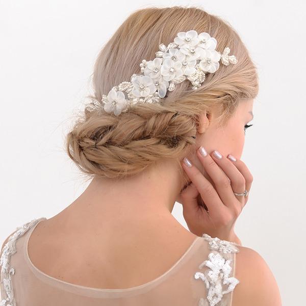 Damen Nizza Satin Kämme und Haarspangen mit Venezianischen Perle (In Einem Stück Verkauft)