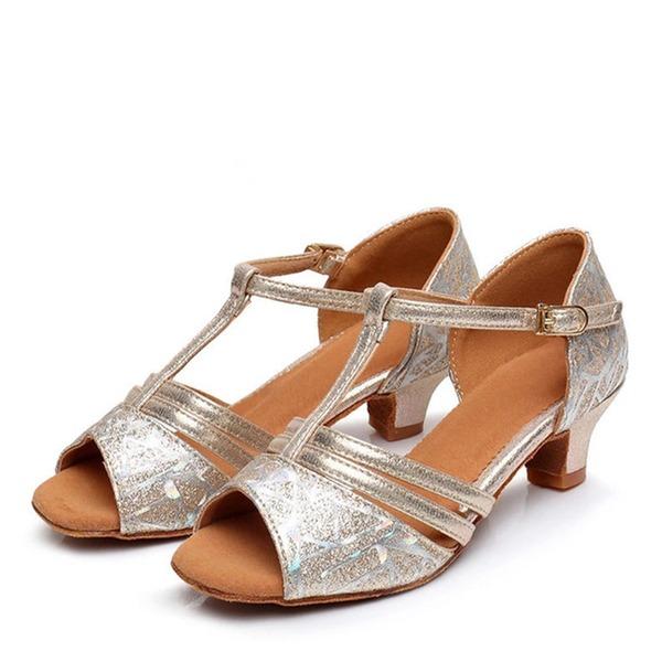 Kids' Leatherette Flats Latin Swing Dance Shoes