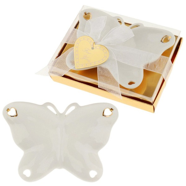 Aranżacja Motylowa Motyl Ceramiczny Butterfly & Serce/Pień Prezenty Z Atłasowe Wstążki