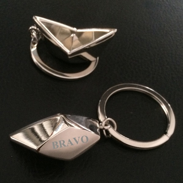 Personalized Boat Stainless Steel/Zinc Alloy Keychains (Set of 4)