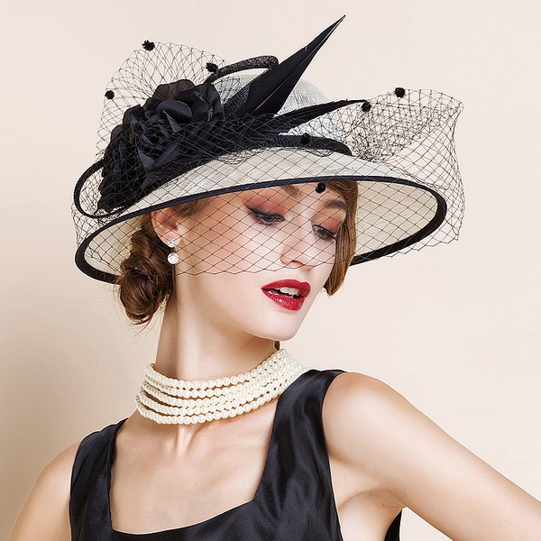Ladies' Fashion/Elegant/Romantic/Vintage/Artistic Cambric With Tulle Fascinators