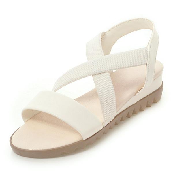 Vrouwen Kunstleer Flat Heel Sandalen Flats Peep Toe Slingbacks met Anderen schoenen