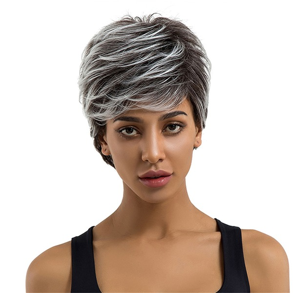 Kinky Straight Synthetic Hair Synthetic Wigs