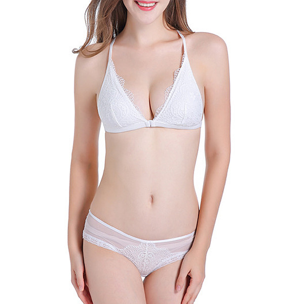 Classic Chinlon/Nylon Wireless/Bralette Bra/Lingerie Set/Bridal Lingerie