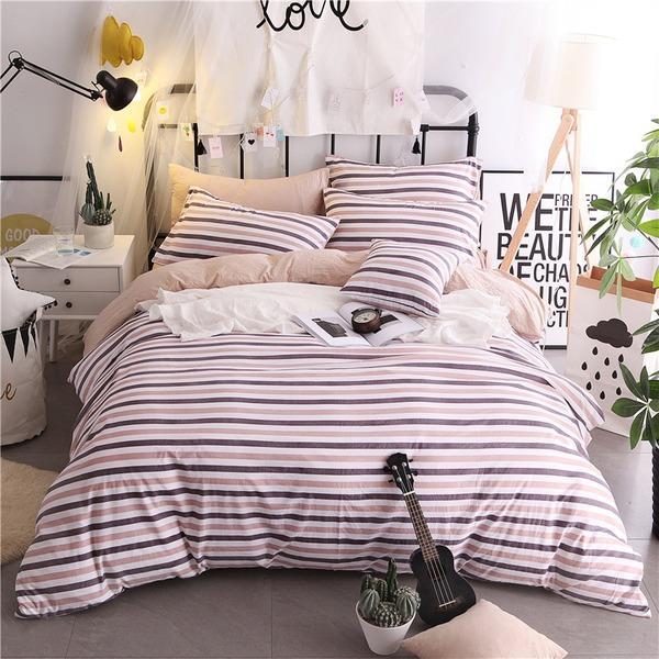 Tradiční / Classic krásný Polyester Bed & Bath (4ks: 1 přikrývka 1 lůžko 2 polštáře)