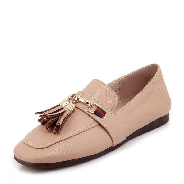 Women's PVC Flat Heel Flats With Chain Tassel shoes
