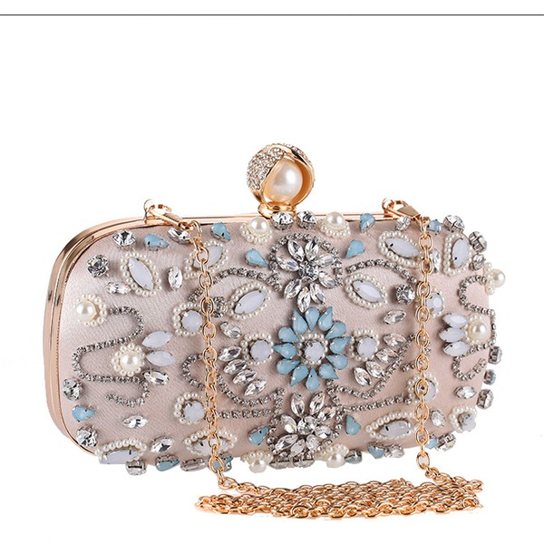 Gorgeous Crystal/ Rhinestone/PU/Imitation Pearl Clutches/Satchel