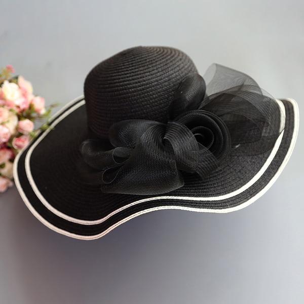 женские Специальный/Гламурный/Элегантные/простой/Привлекательным/Необычные Плетеная соломы с Тюль соломенная шляпа