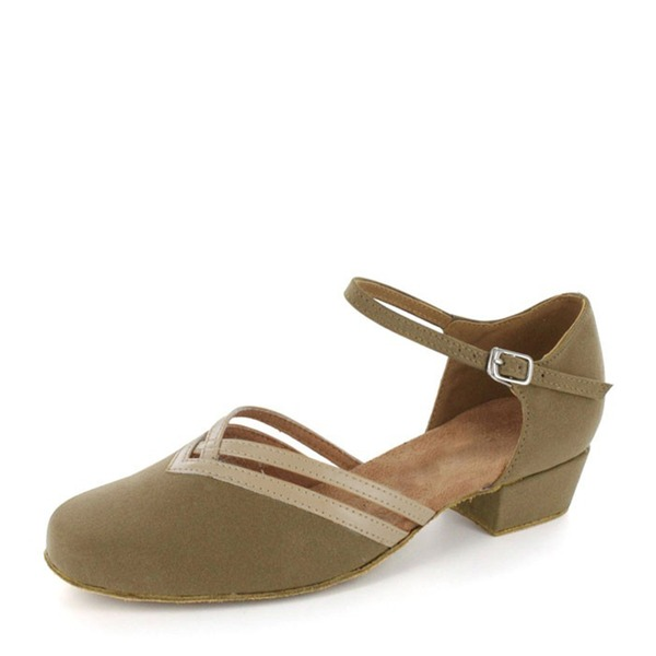 Women's Suede Flats Ballroom Dance Shoes