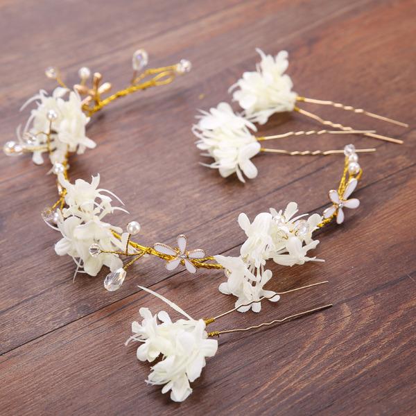 Damer Charmen Legering/Spets Hårnålar med Venetianska Pärla (Sats om 4)