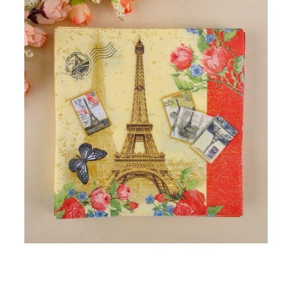 De Tour Eiffel Conception Serviettes de table (Lot de 20)