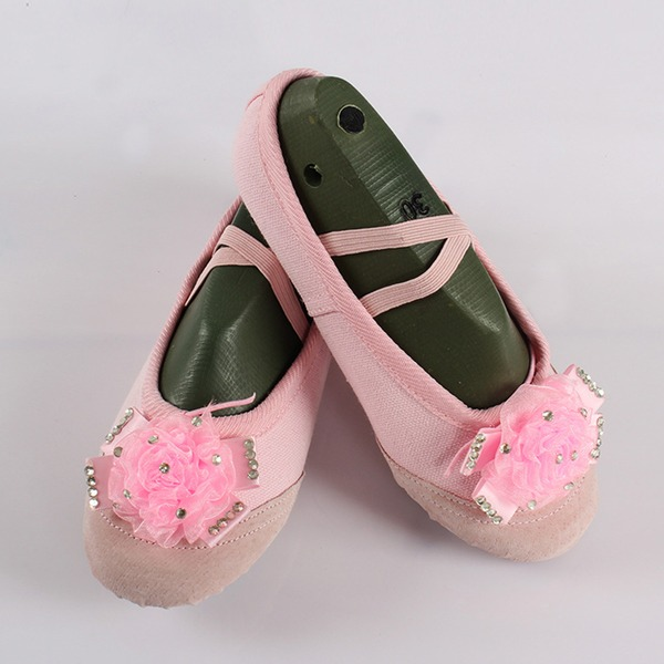 Femmes Toile Chaussures plates Ballet avec Une fleur Chaussures de danse