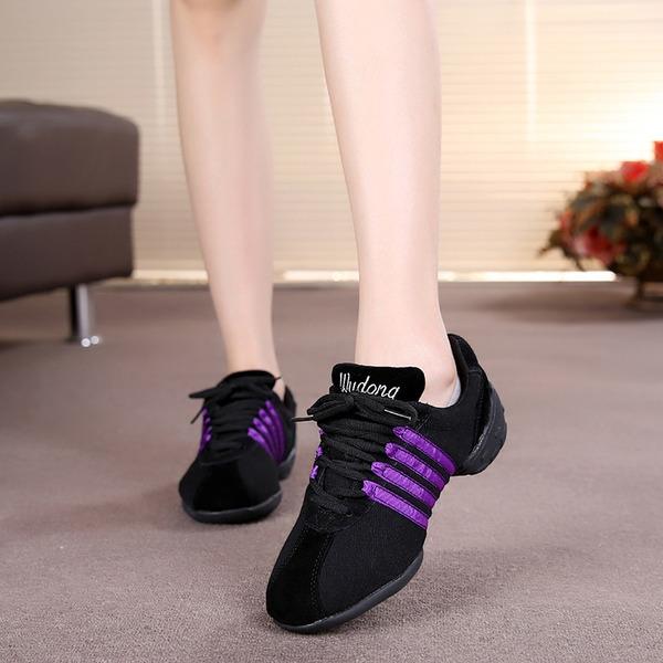 Women's Suede Sneakers Sneakers Dance Shoes