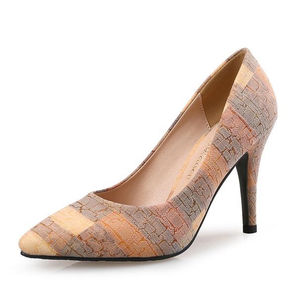 Femmes Velours Talon stiletto Escarpins avec Fleur en satin chaussures