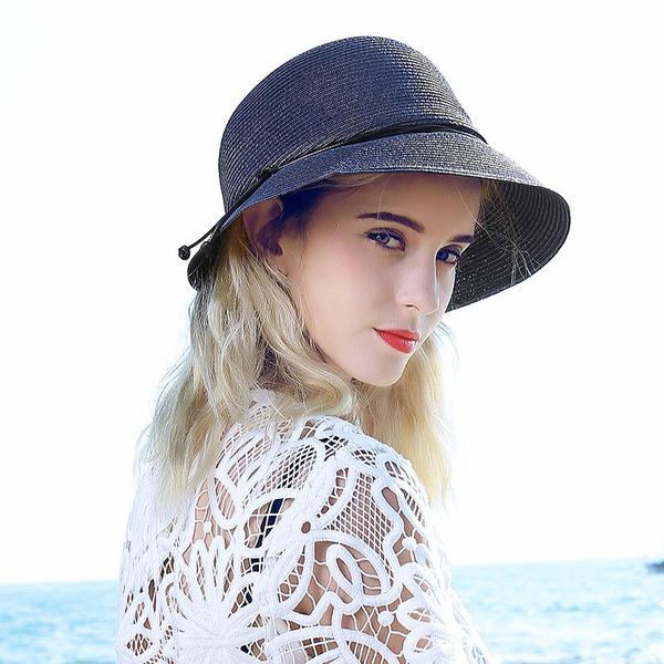 Ladies' Fashion Raffia Straw With Bowknot Straw Hat