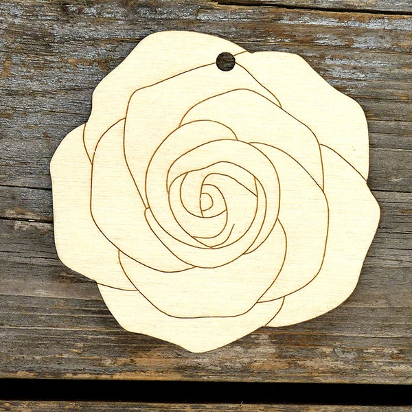 Unfinished  Blank Creative Gifts Modern Rose Easter Wooden (Set of 10) Non-personalized Gifts
