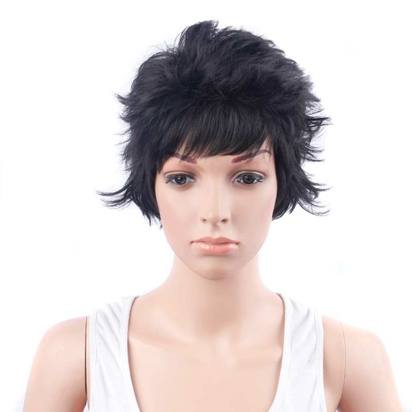 Wavy Pixie Synthetic Wigs (Sold in a single piece)