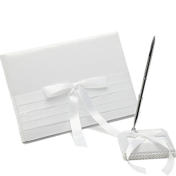 Pure Bow/Sash Guestbook & Pen Set