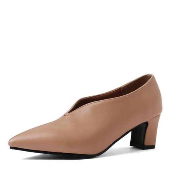Naisten Mikrokuituliina Nahka Chunky heel Avokkaat jossa Muut kengät