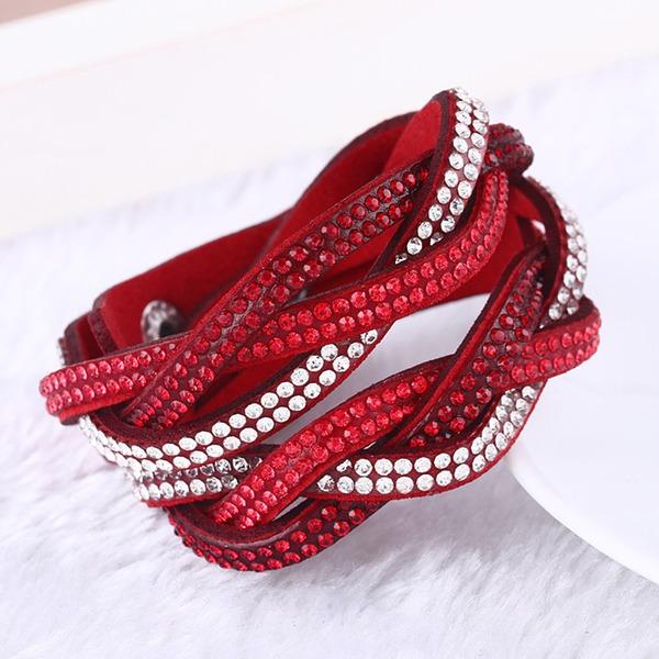 Unique Similicuir avec Strass Femmes Bracelets de mode (Vendu dans une seule pièce)