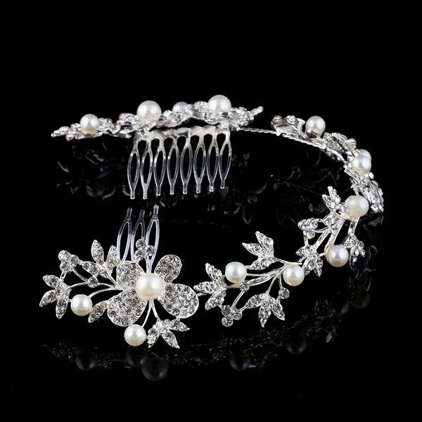 Prächtig Strass/Legierung/Faux-Perlen Kämme und Haarspangen mit Strass/Venezianischen Perle (In Einem Stück Verkauft)