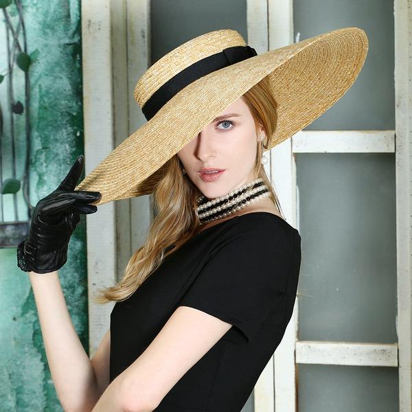 Dames Mode/Spécial/Élégante Rotin paille Cap Peaked/Chapeaux de plage / soleil