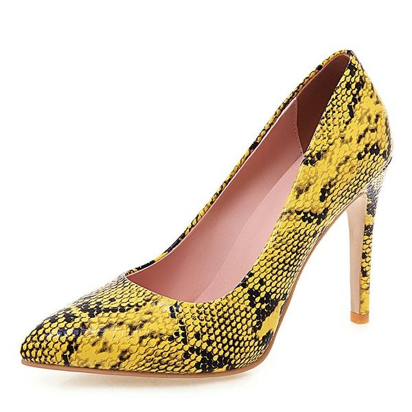 Женщины Лакированная кожа Высокий тонкий каблук На каблуках обувь