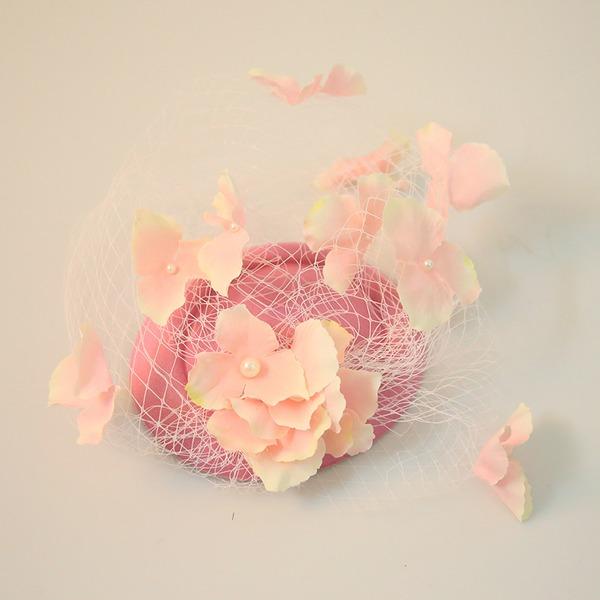 Dames Beau Fil net/Fleur en soie/Velours Chapeaux de type fascinator/Kentucky Derby Des Chapeaux