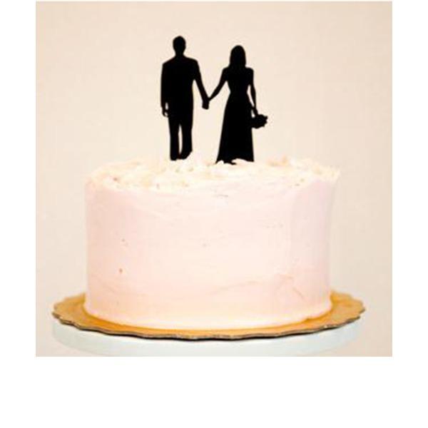 Casal clássico Acrílico Casamento Decorações de bolos/Chá de panela Decorações de bolos