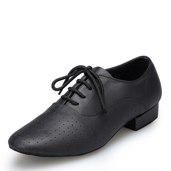 Men's Real Leather Latin Jazz With Lace-up Dance Shoes