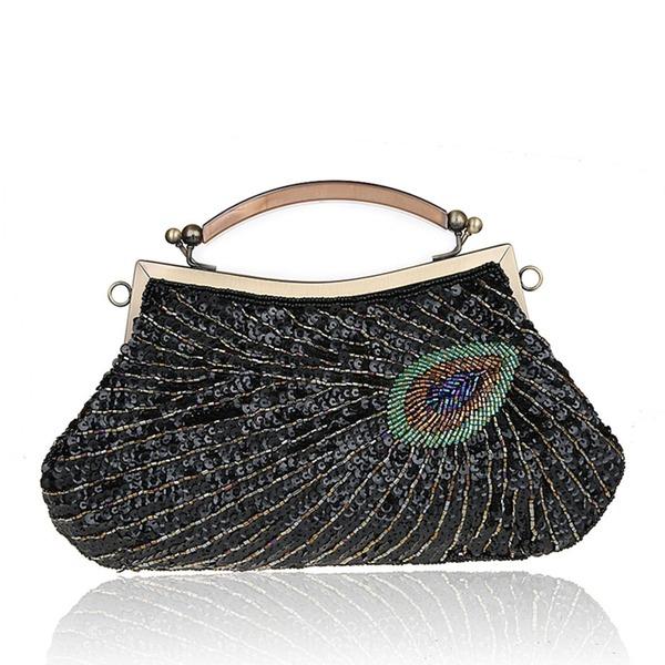 Elegant Sprankelende Glitter/Polyester horlogebandjes/Bovenste handgreep