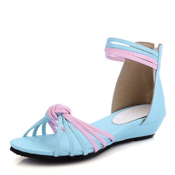 Donna PU Tacco basso Sandalo Zeppe con Altrui scarpe