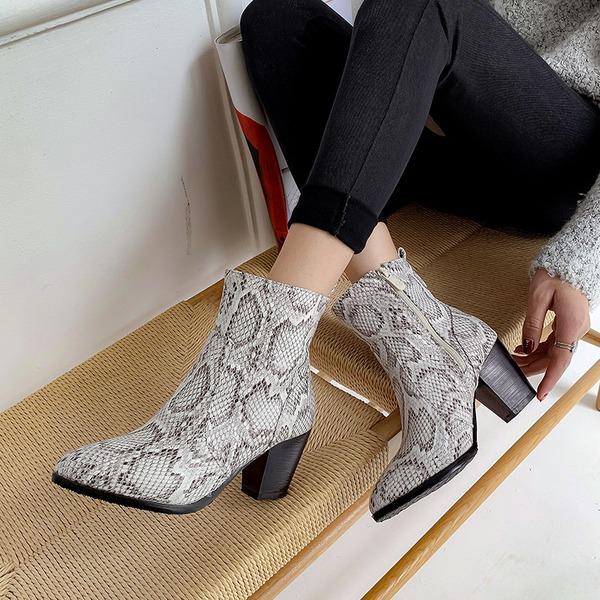 Kadın PU Kalın Topuk Pompalar Bot أحذية