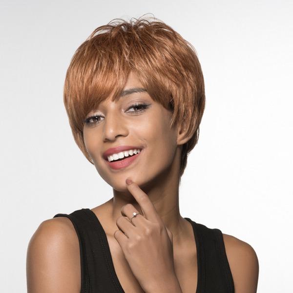 Dritto Pixie Parrucche dei capelli umani Parrucche da afro-americane