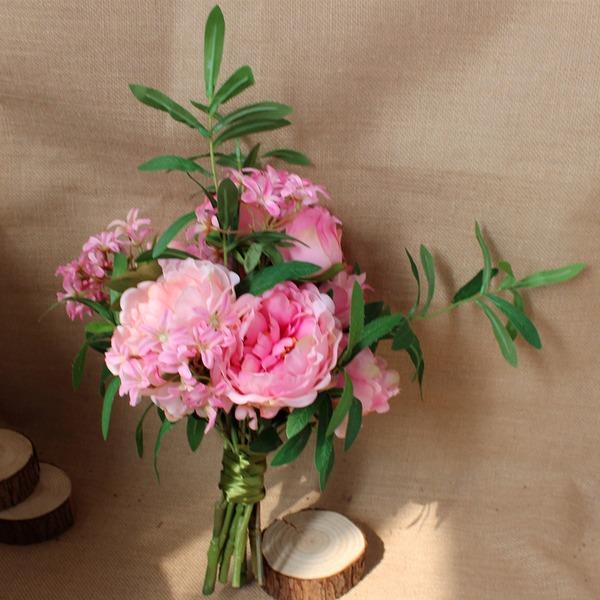 Simpelt og Elegante Friform Satin Brude Buketter (Sælges i et enkelt stykke) - Brude Buketter