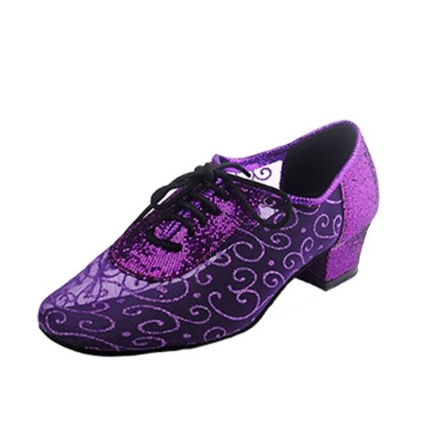Femmes Dentelle Chaussures plates Tennis Pratique avec Dentelle Chaussures de danse